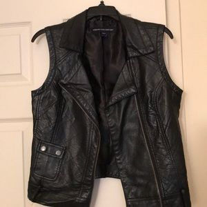French Connection Faux leather vest, Size 4